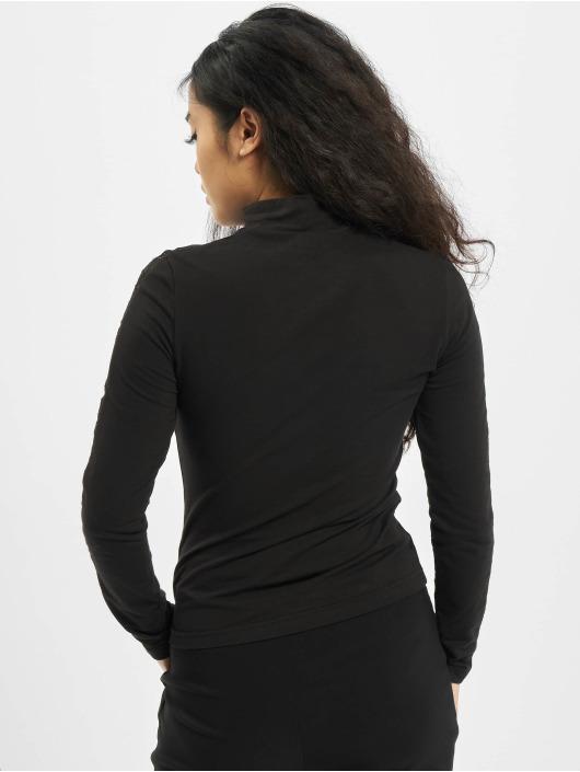 Urban Classics Långärmat Ladies Lace Striped LS svart