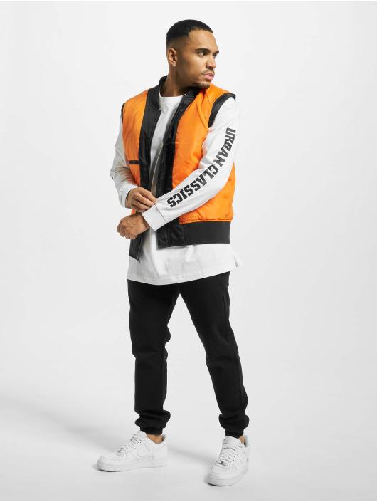 Urban Classics Långärmat Sleeve Logo Boxy Pocket vit