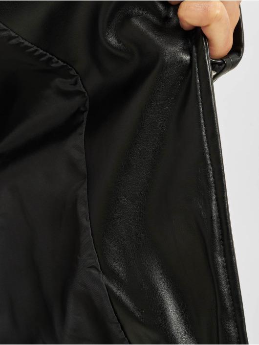 Urban Classics Lærjakke Faux Leather Biker svart