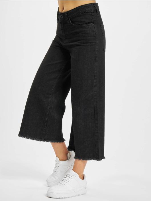 Urban Classics Løstsittende bukser Denim Culotte svart