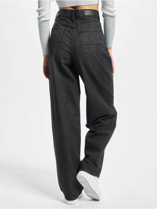 Urban Classics Løstsittende bukser Ladies High Waist 90´s Wide Leg Denim svart