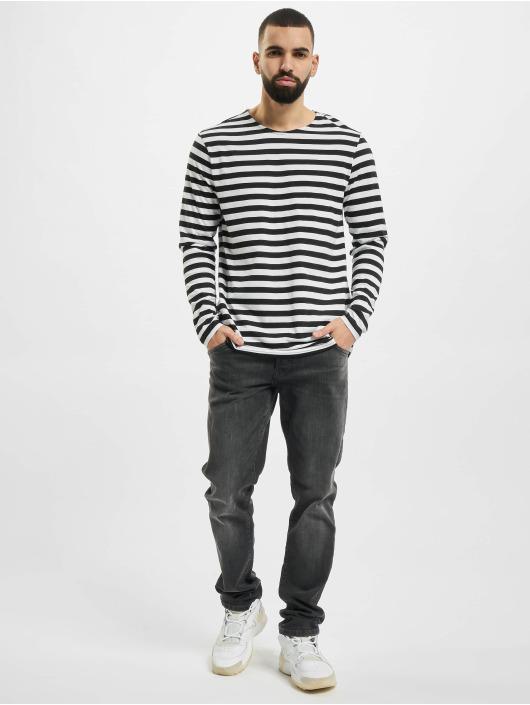 Urban Classics Langærmede Regular Stripe LS hvid