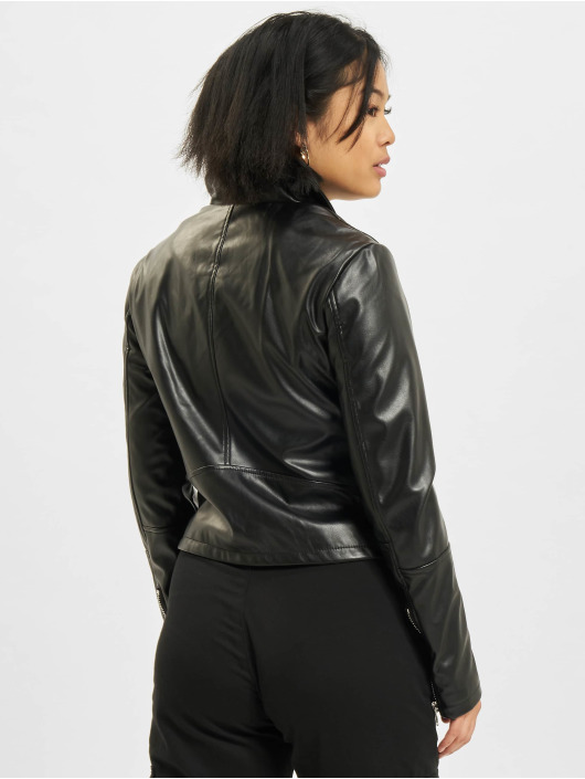Urban Classics Leather Jacket Faux Leather Biker black