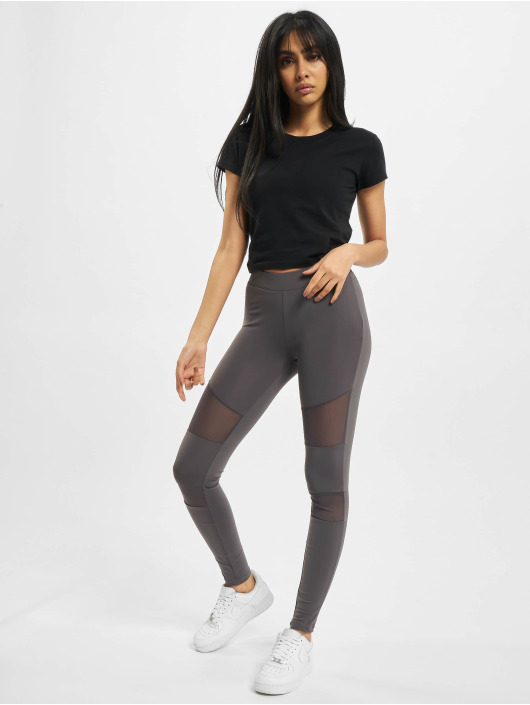 Urban Classics Legging Ladies Tech Mesh grau