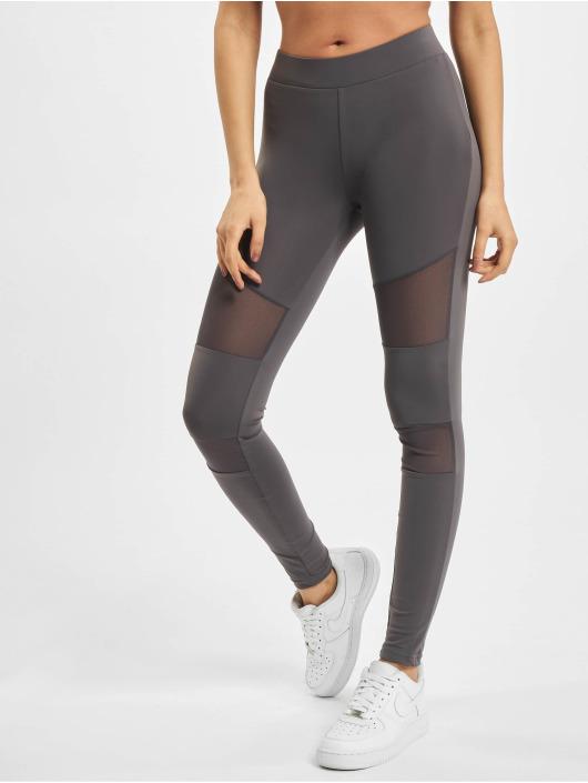 Urban Classics Legging Ladies Tech Mesh grijs