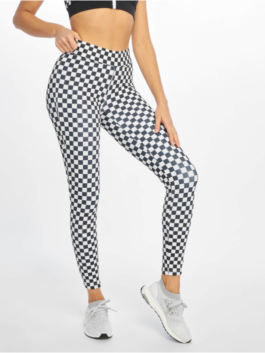 Urban Classics Legging Check Pattern noir