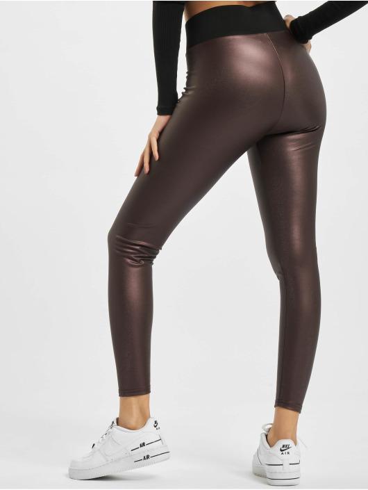 Urban Classics Legging Ladies Faux Leather High Waist rouge