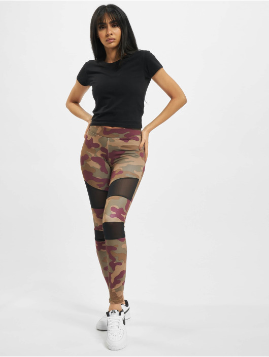 Urban Classics Legging Ladies Tech Mesh rouge
