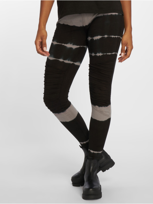 Urban Classics Legging Striped Tie Dye schwarz
