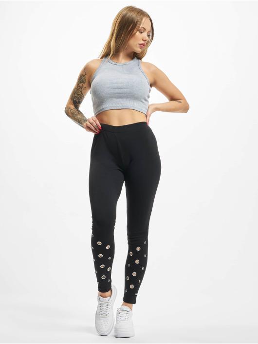 Urban Classics Legging/Tregging Eyelet black