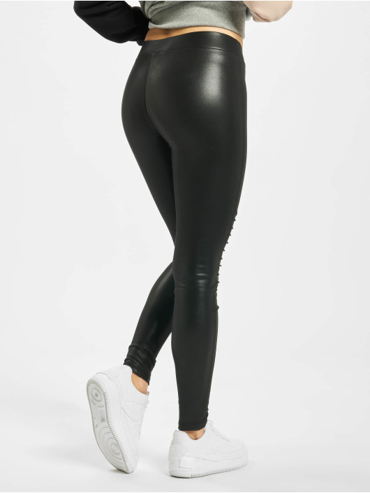 Urban Classics Legging/Tregging Ladies Faux Leather Biker black