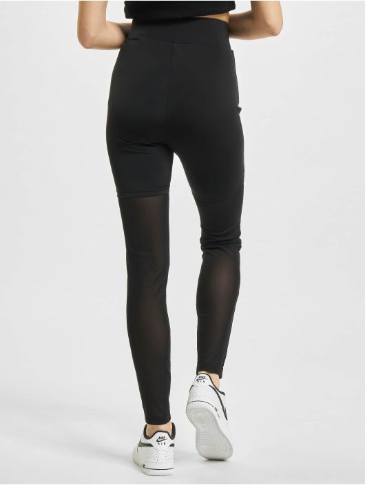 Urban Classics Legging/Tregging High Waist Transparent Tech Mesh black