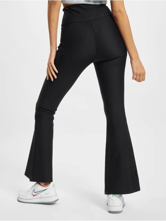 Urban Classics Legging/Tregging Ladies High Waist Rib Boot Cut black