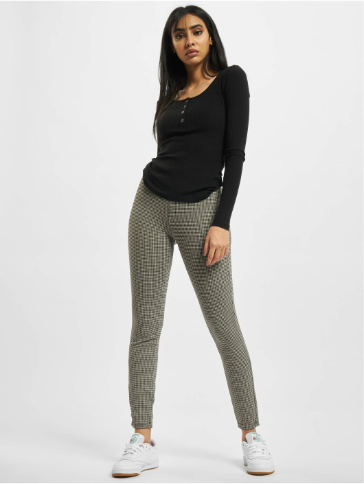 Urban Classics Legging/Tregging Ladies Vichy Check High Waist blanco