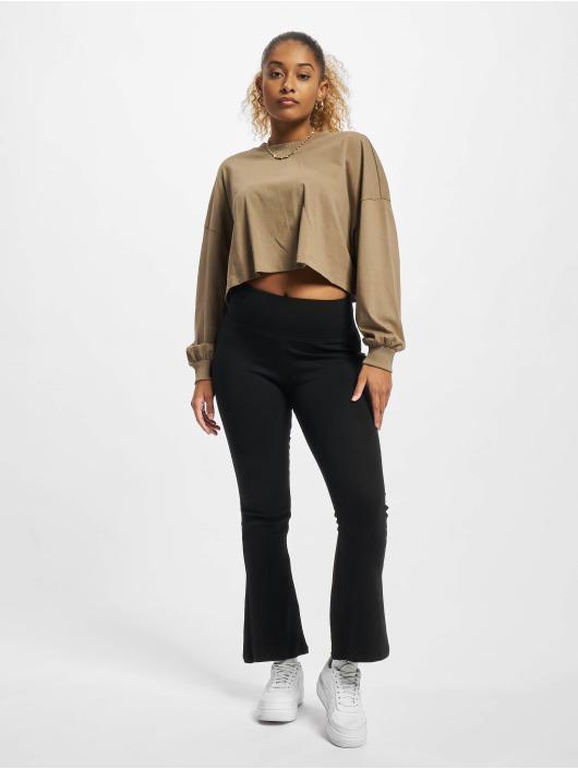 Urban Classics Legging/Tregging Ladies Organic Interlock Bootcut negro