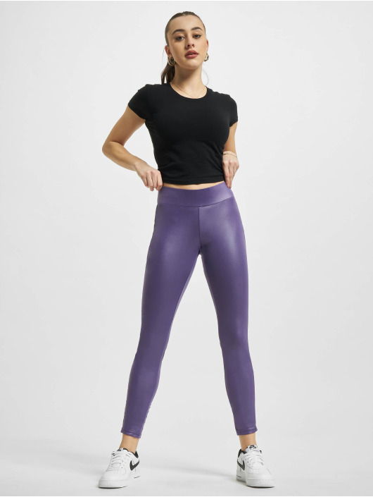 Urban Classics Legging/Tregging Imitation Leather púrpura