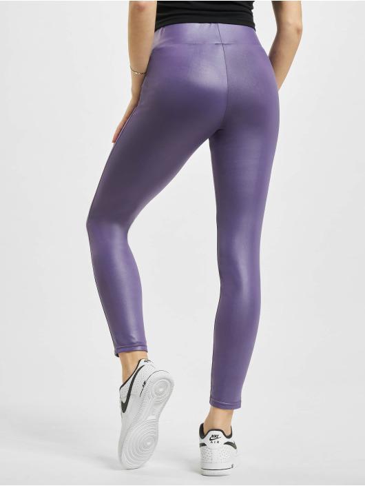 Urban Classics Legging Imitation Leather violet