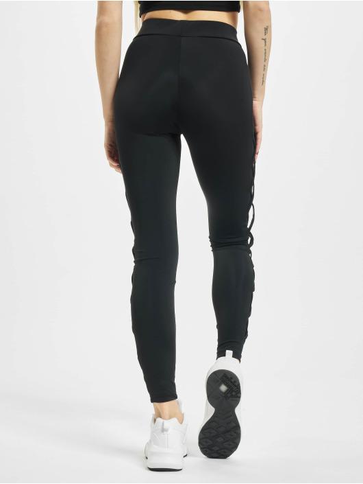 Urban Classics Legging Ribbon Mesh zwart