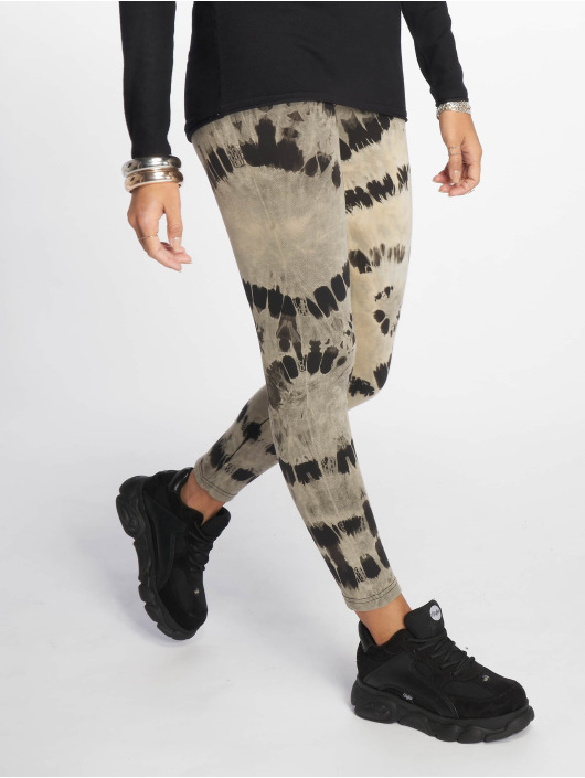 1c9c8a3c494 Urban Classics broek / Legging Ladies Acid Wash Splash in zwart 610054