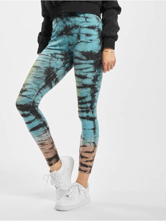Urban Classics Legging Cotton Tie Dye High Waist zwart