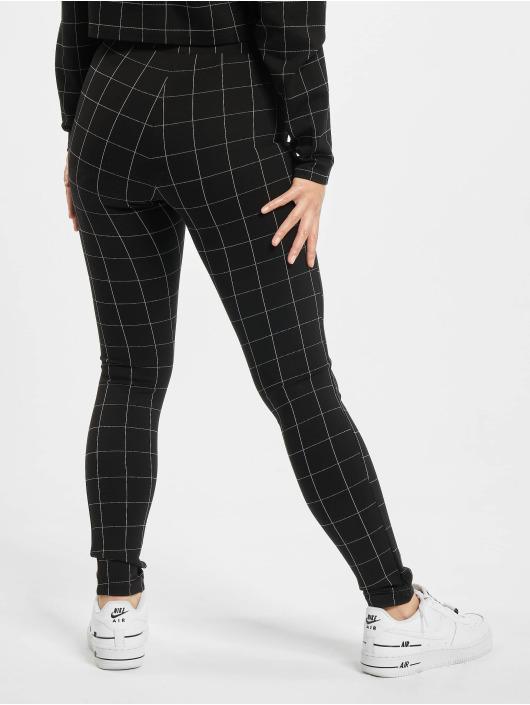 Urban Classics Legging Ladies Check High Waist zwart