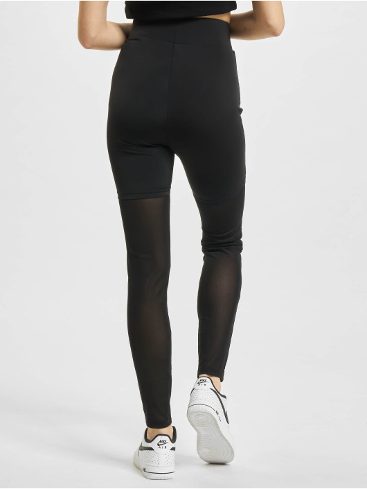 Urban Classics Legging High Waist Transparent Tech Mesh zwart