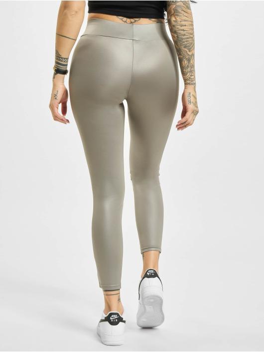 Urban Classics Leggings Imitation Leather grigio