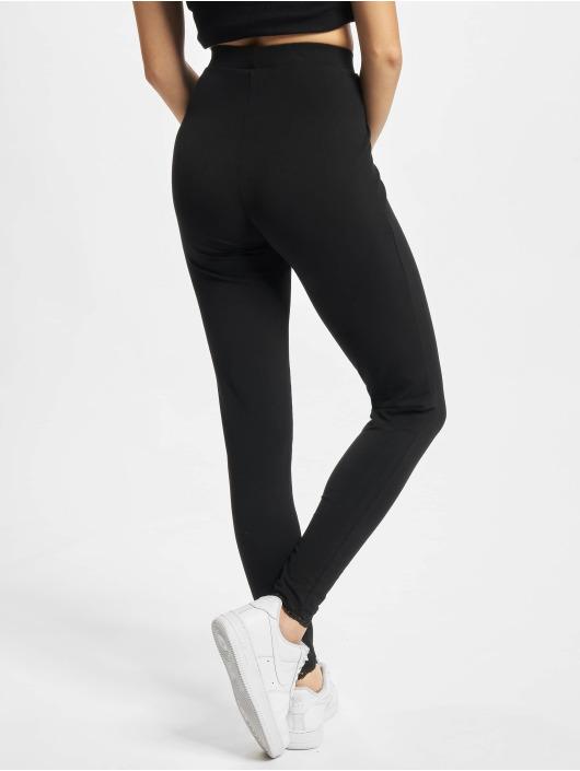Urban Classics Leggings Ladies Lace Hem nero