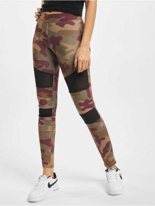 Urban Classics Leggings Ladies Tech Mesh röd