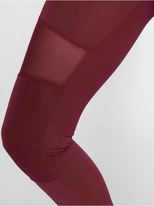 Urban Classics Leggings Tech Mesh rosso