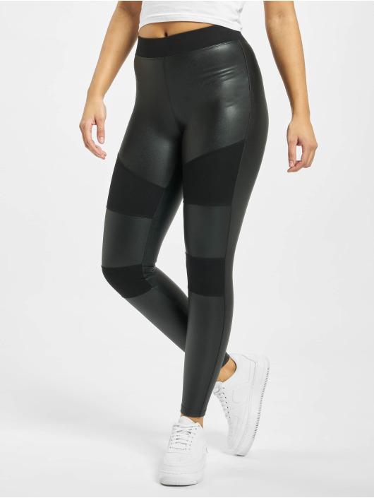 Urban Classics Leggings Ladies Fake Leather Tech svart