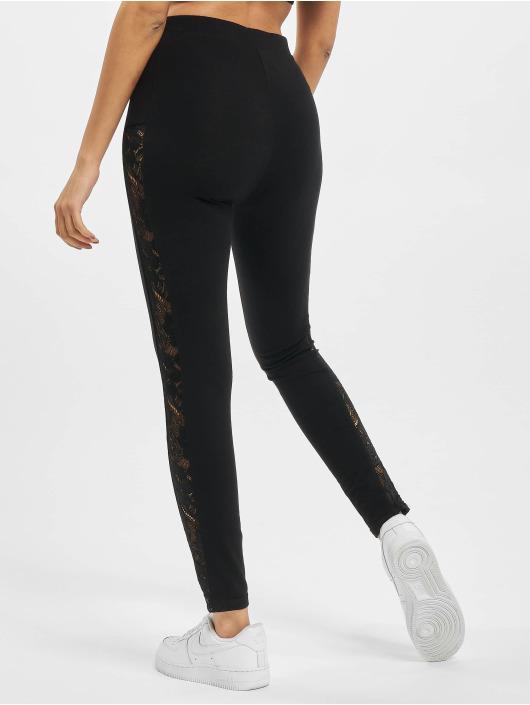 Urban Classics Leggings Ladies Lace Striped svart