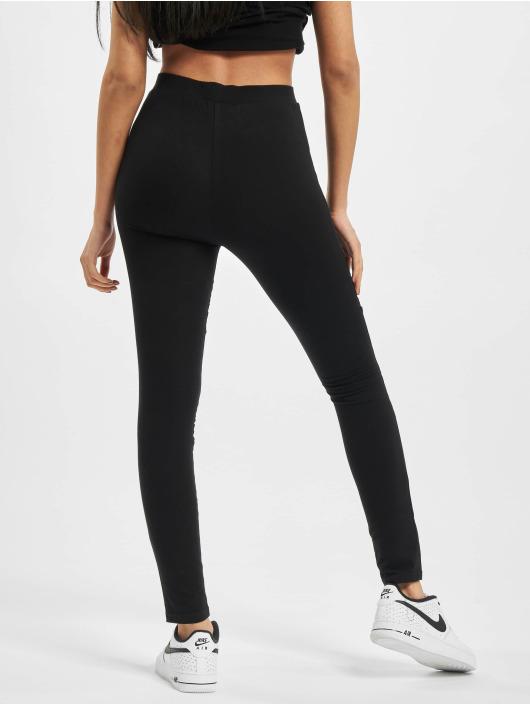 Urban Classics Leggings Ladies Flock Lace Inset svart