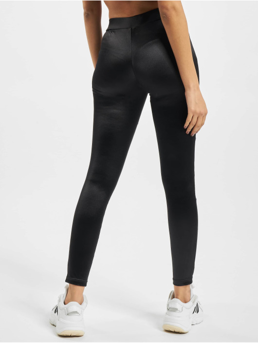Urban Classics Leggings Ladies Shiny Tech Mesh svart