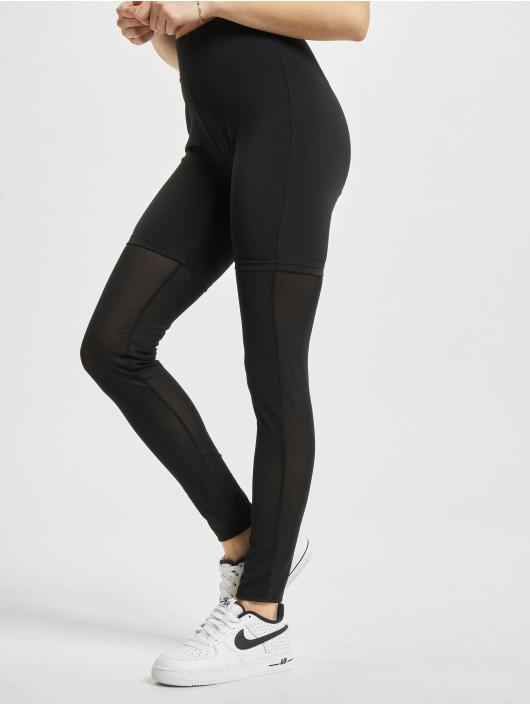 Urban Classics Leggings High Waist Transparent Tech Mesh svart