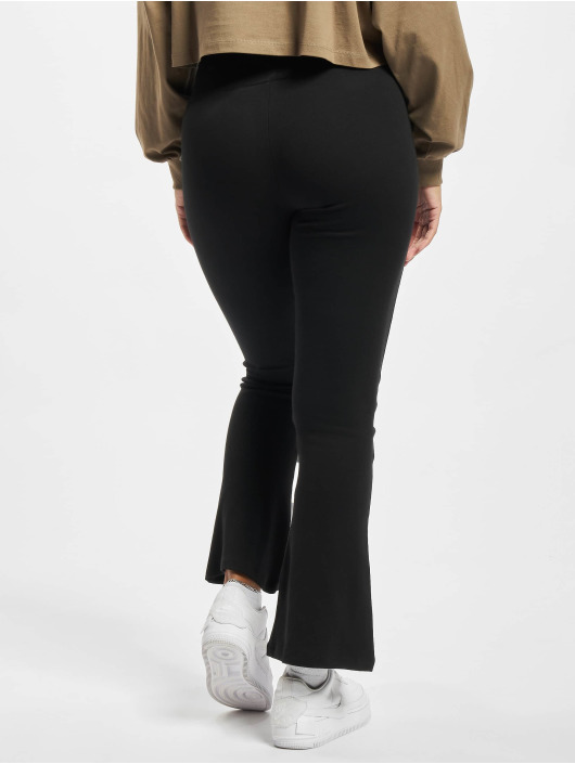 Urban Classics Leggings Ladies Organic Interlock Bootcut svart