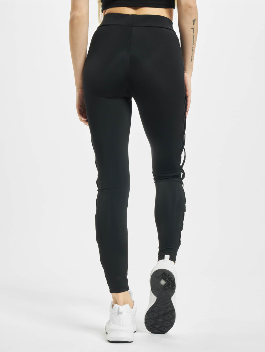 Urban Classics Leggings/Treggings Ribbon Mesh black