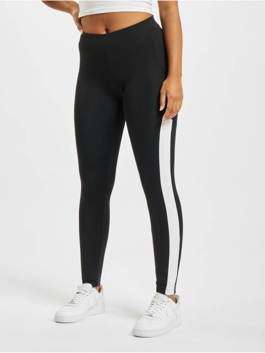 Urban Classics Leggings/Treggings Tech Mesh Striped Pocket black