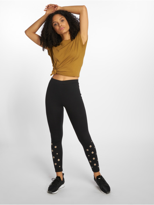 Urban Classics Leggings/Treggings Eyelet black