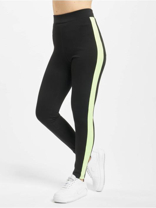 Urban Classics Leggings/Treggings Neon Side Stripe black