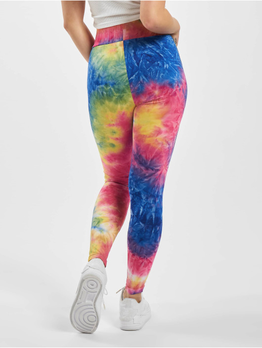 Urban Classics Leggings/Treggings Ladies Tie Dye High Waist blue