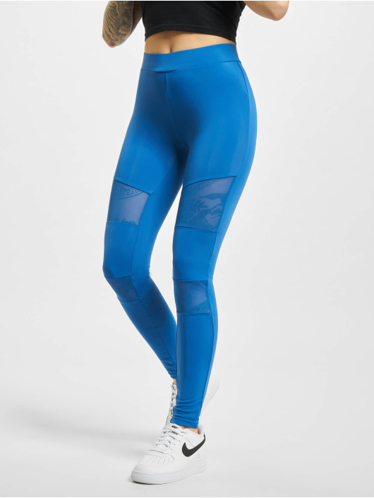 Urban Classics Leggings/Treggings Tech Mesh blue