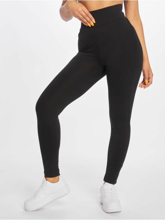 Urban Classics Leggings/Treggings High Waist czarny