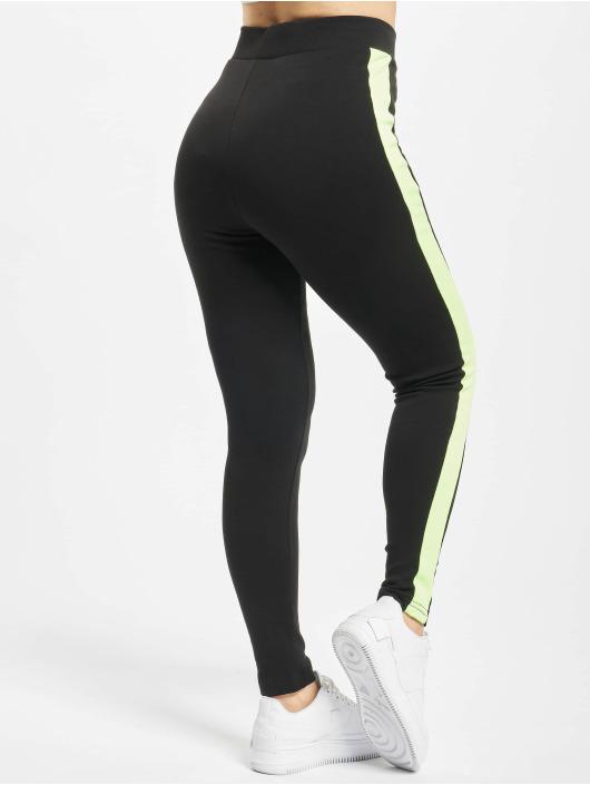 Urban Classics Leggings/Treggings Neon Side Stripe czarny