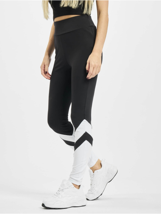 Urban Classics Leggings/Treggings Ladies Arrow High Waist czarny