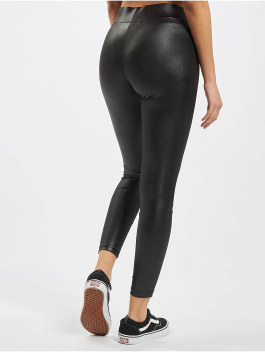 Urban Classics Leggings/Treggings Ladies Imitation Leather czarny