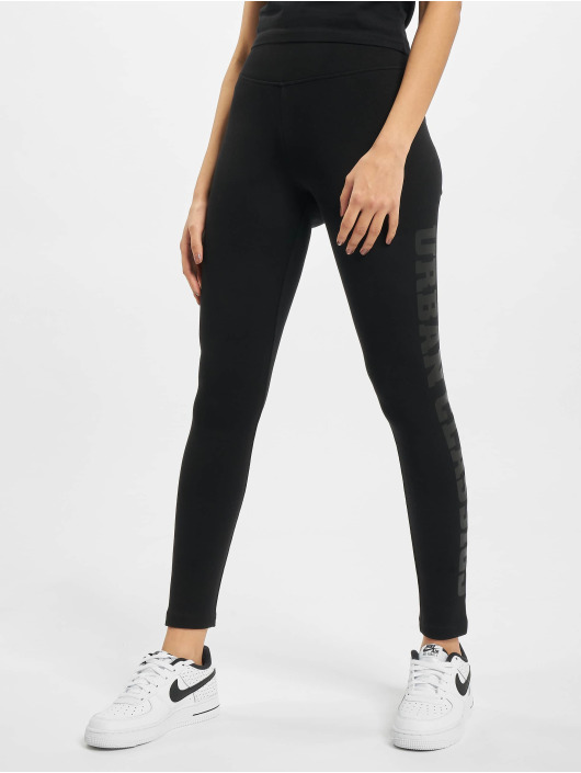 Urban Classics Leggings/Treggings High Waist Branded czarny