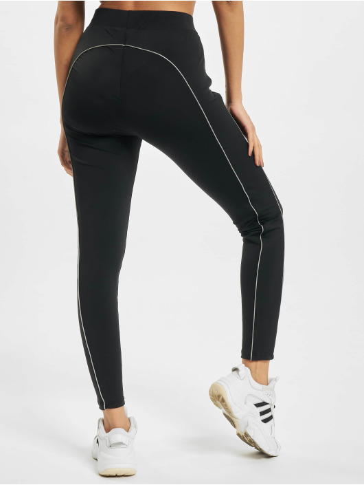 Urban Classics Leggings/Treggings Ladies High Waist Reflective czarny