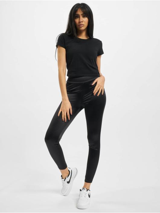 Urban Classics Leggings/Treggings Ladies Shiny High Waist czarny