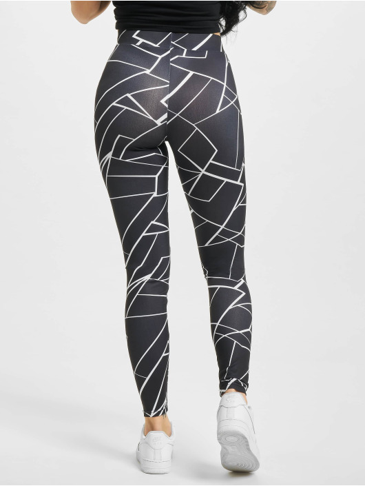 Urban Classics Leggings/Treggings Aop czarny